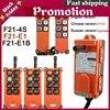 Dc12v 24v Industrial inalámbrico controlador remoto de elevación grúa de Radio Control interruptor F21-4s F21-E1 F21-E1b Ac220v 380v 110v