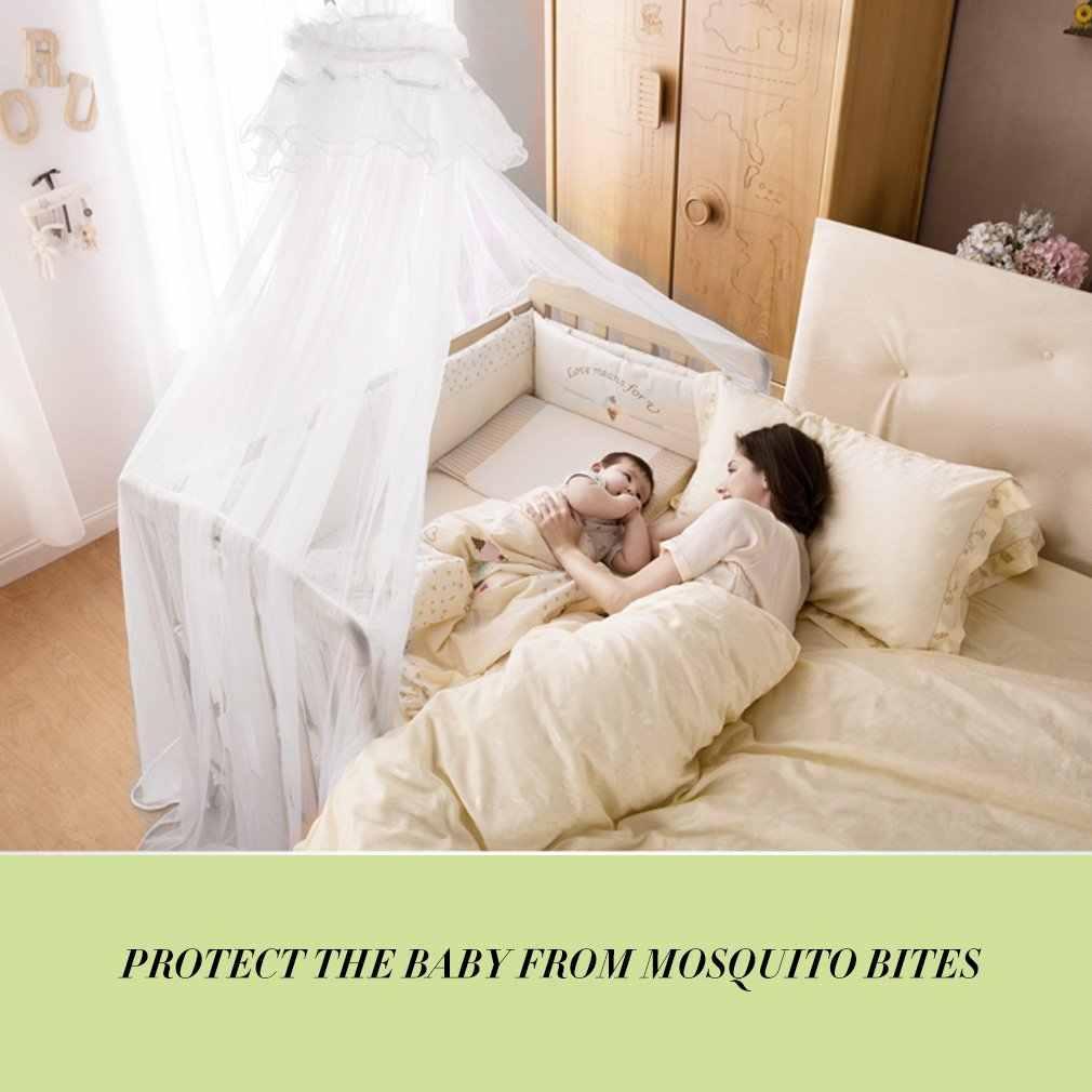 Outda verão mosquito net berço da cama do bebê net criança infantil tendas cama princesa mosquito malha para infantil