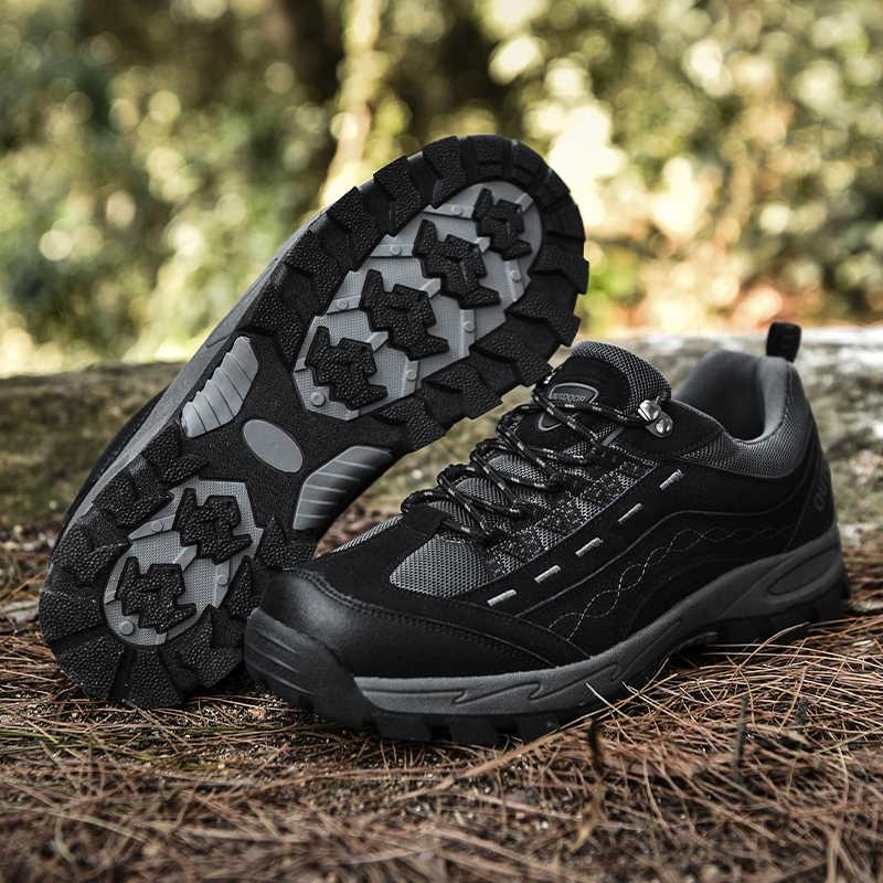 Vancat 2020 nova primavera outono tênis dos homens sapatos de caminhada ao ar livre malha confortável respirável calçados masculinos não-deslizamento sapatos casuais