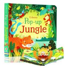 Pop up selva inglês educacional 3d aleta imagens livros floresta encantada crianças livro de leitura