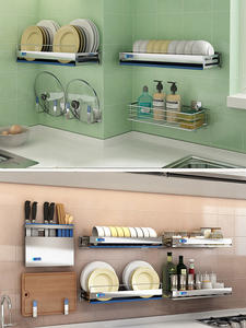 Shelf-Organizer Rack Hook Knife-Holder Cutlery-Container-Board Seasoning-Basket Kicthen-Storage