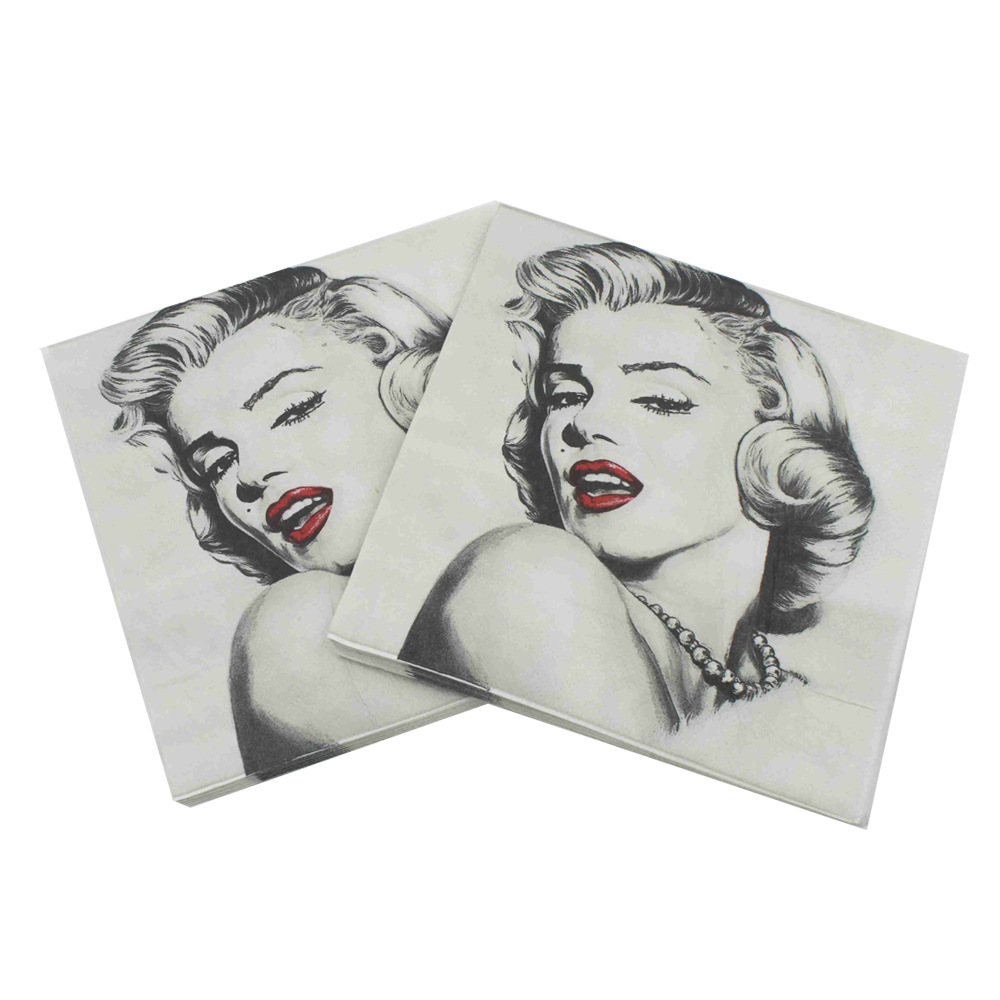 [Currently Available] Color Printed Napkin Monroe Napkin Creative Tissue Kleenex