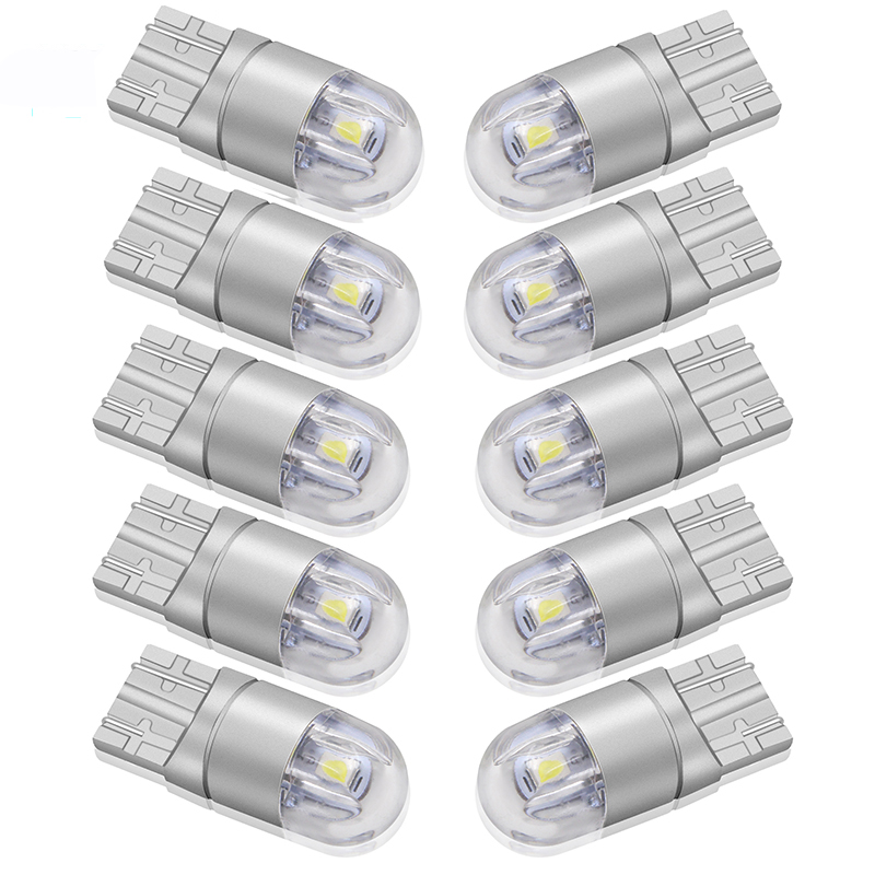 10pcs T10 W5W LED Car Light SMD 3030 Marker Lamp WY5W 192 501 Tail Side Bulb Wedge Parking Dome Light Auto Styling DC 12V
