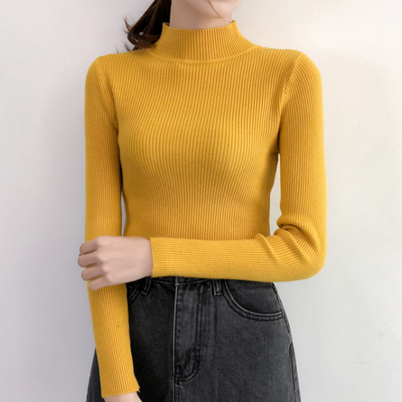 Wanita Sweater Musim Dingin Wanita Turtleneck Sweater Korea Fashion Wanita Kapas Termal Knit Sweater Wanita Sweater Fashion 2019 Wanita