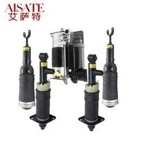 цена 5pcs/set Front Rear Air Pneumatic Suspension Shock Absorber Strut Air Compressor Pump for Audi A6 C5 Allroad Quattro 1999-2006