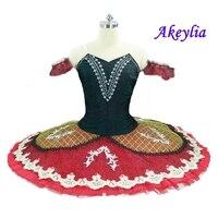 Adult black Burgundry Ballet Tutu Girls 10 Layers Emerald Professional Ballet Tutus red pancake Tutu Dress for women