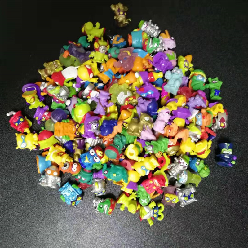 10-50pcs Superzings Zomlings Action Figures Dolls 3CM Super Zings Garbage Collection Toys Model For Kids Playing Gift