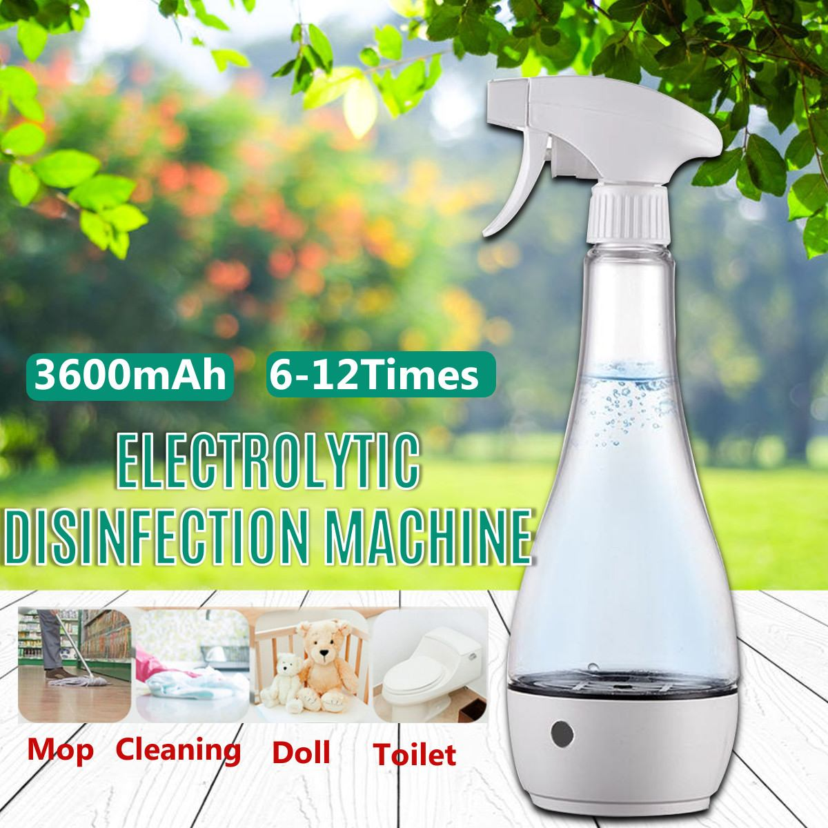 Portable USB 84 Disinfection Water Electrolytic Disinfection Machine Hypochlorous Acid Disinfection Water Maker Home Supplies