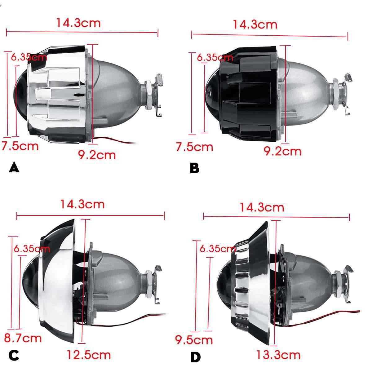 "Universal 2,5 ""LHD Car HID bi-xenon proyector lente Auto motocicleta para H4 H7 faro"