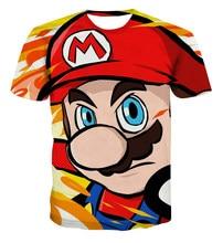 Boys Mario T shirt SuperMario Print Clothes Girls 3D Funny T-shirts Costume Children 2021 summer Clothing Kids Tees Baby Tshirts