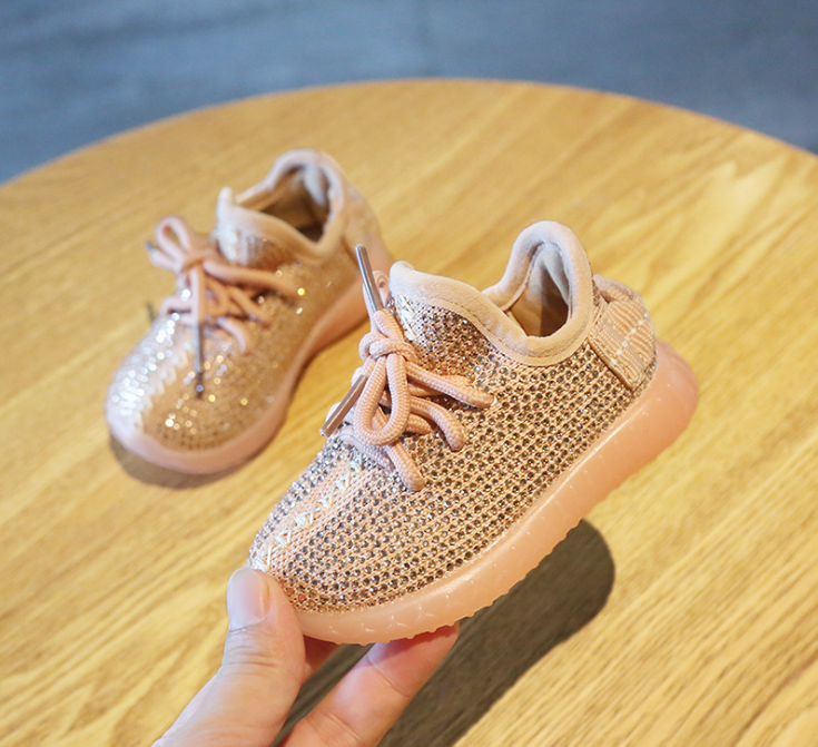 Toddler Sneakers Kid Shoes Spring/Autumn Baby Girl Boy Toddler Shoes Infant Rhinestone Sneakers Coconut  Boy Shoes
