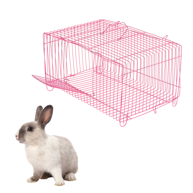 2 Pieces Small Pet Hamster Rabbit House Folding Cage Small Animal Crate 1