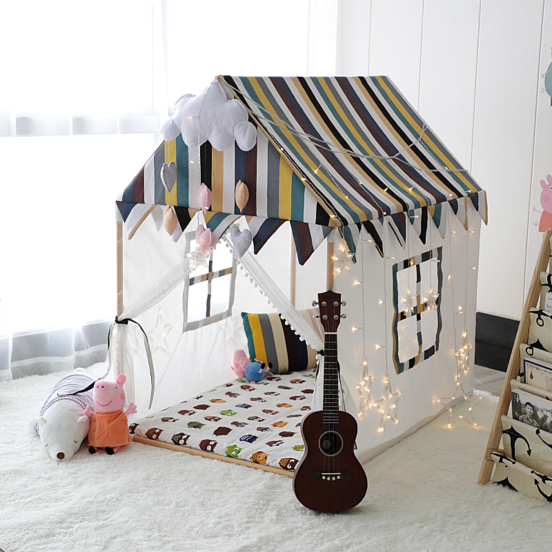 Ins Baby Tent Solid Wood Children's Tent Princess Castle Game House Baby House Baby Toy Bed Corner