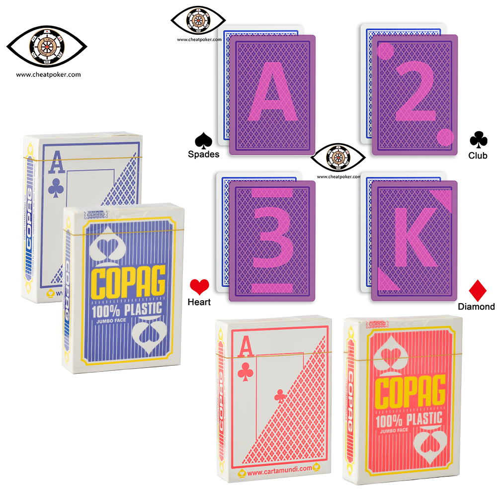 Marked Cards For Contact Lenses,invisible Infrared Marks On The Back Of COPAG Anti Cheat Playing Cards,magic Tag Poker