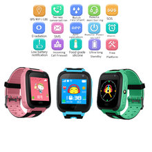 Children's Watch GPS Smart Phone Watches Swimming Baby Clock Waterproof SOS Device Tracker Locator Child Safety Anti-lost Device(China)
