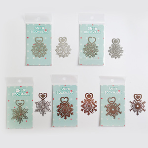 Image 3 - Metal Flower Bookmarks Stainless Steel Snowflake Book Page Marker as Christmas Gifts 30pcs/lot