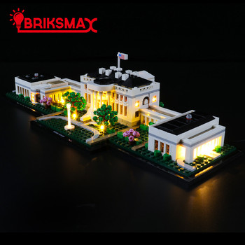 BriksMax Led Light Kit For 21054 Architecture Series The White House Toys Building Blocks Model Lighting Set wange the white house building blocks set model small architecture collection 2017 classic educational toys for children gifts