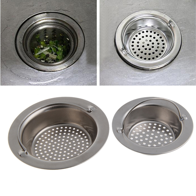 Kitchen Sink Strainer Waste Plug Drain Stopper Filter Basket Stainless Steel New 2017 2