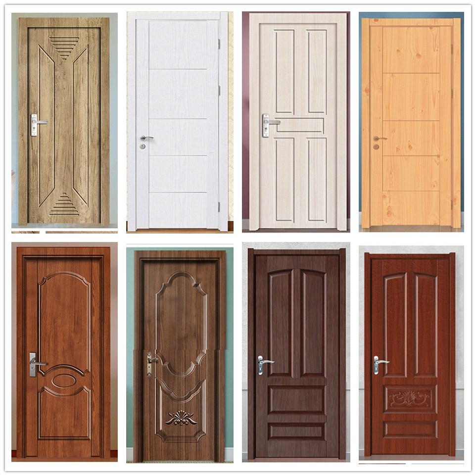 Wood Grain Door Stickers Waterproof Self-Adhesive DIY Wallpaper For Furniture Home Wooden Doors Refurbish Decor Mural PVC Decal