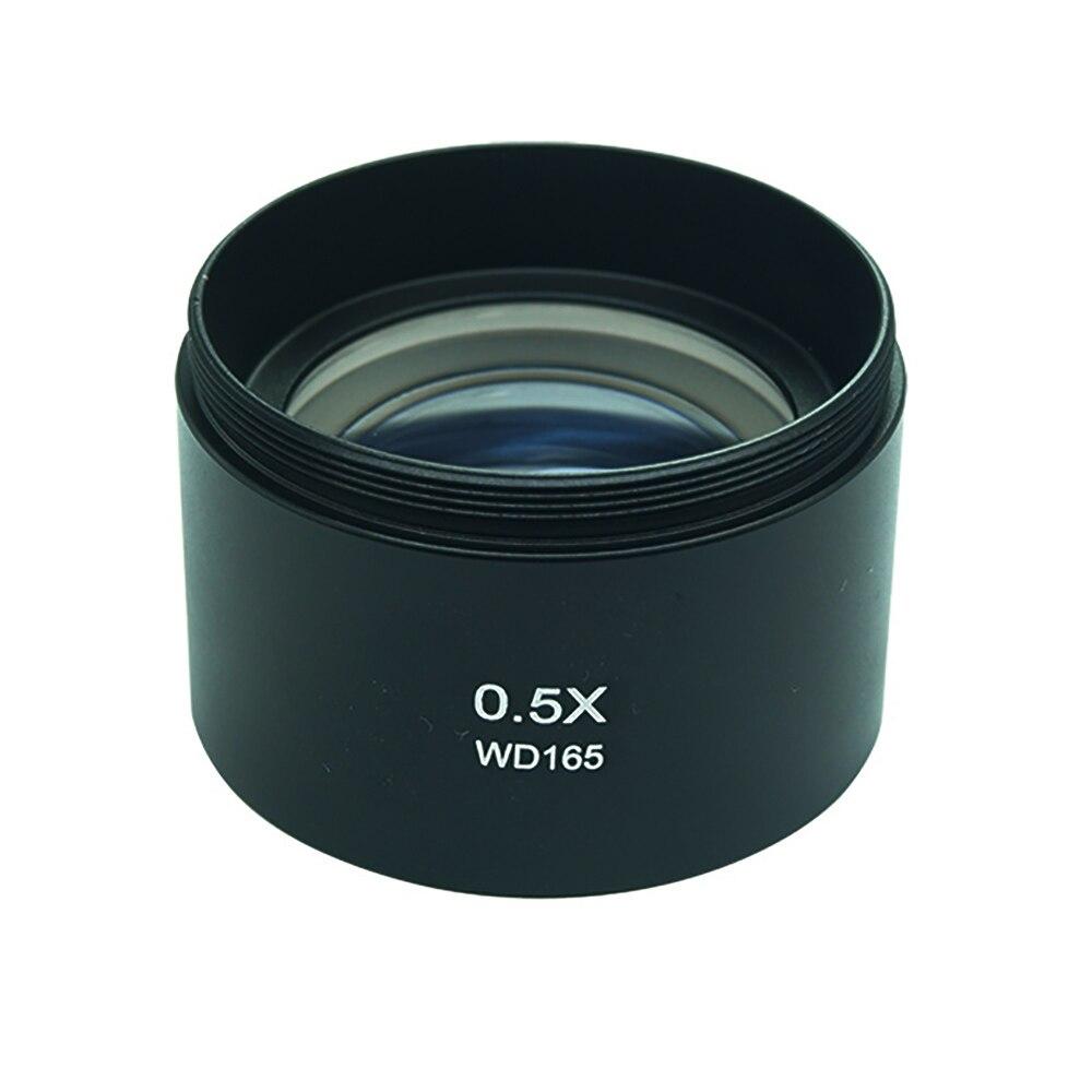 WD165 0.5X Stereo Microscopio Ausiliario Lente Obiettivo Lente di Barlow con 1-7/8