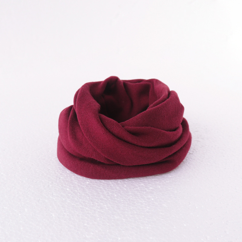 Милый хлопковый детский шарф, Детские однотонные осенне-зимние теплые шарфы с принтом, шарф с круглым вырезом для мальчиков и девочек - Цвет: 21