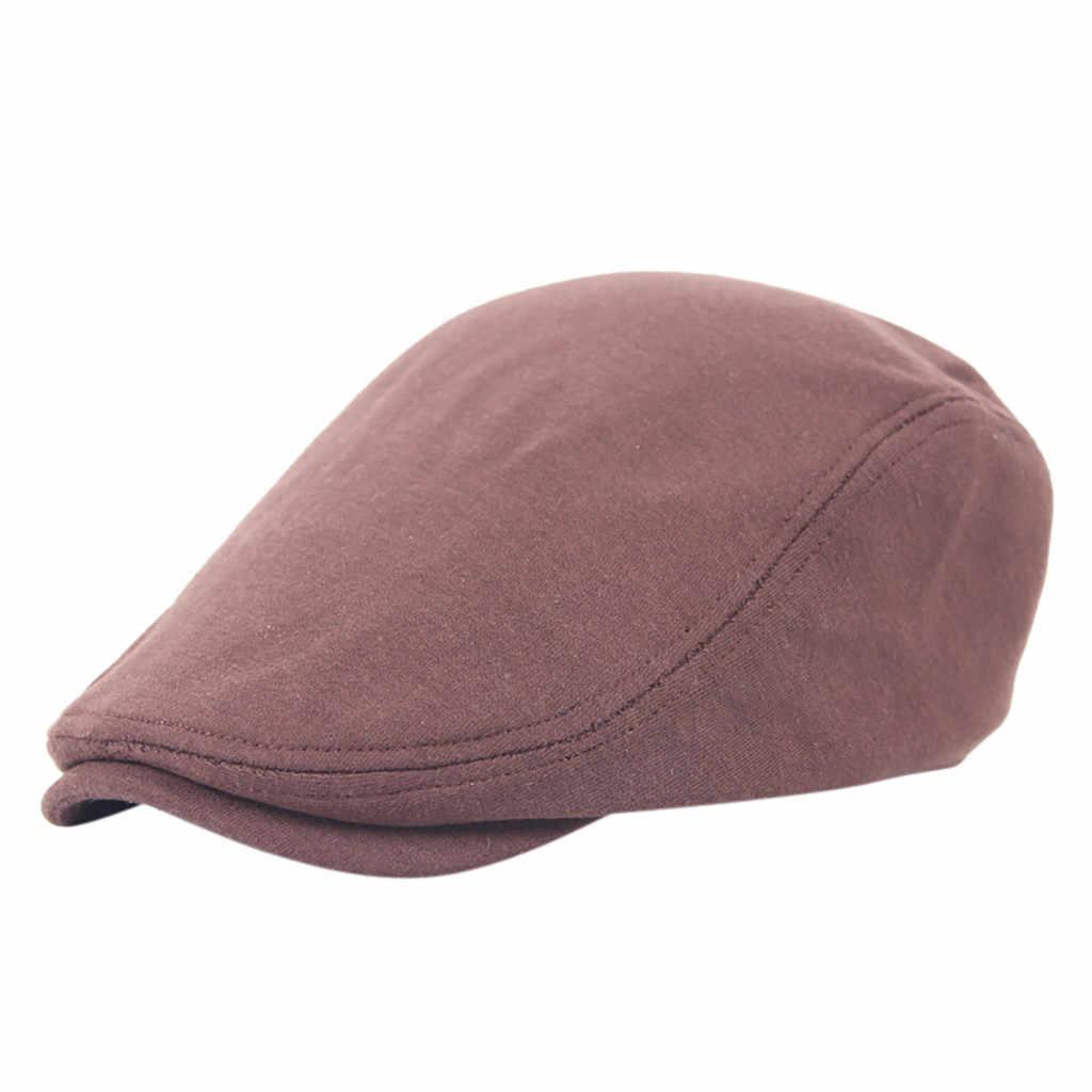 Siyah baba şapka adam düz renk şapka Newsboy Baker erkek düz kap erkek nefes ana şapka Streetwear konfor kap gorra hombre