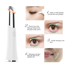 Mini Electric Vibration Eye Massager Anti-aging Wrinkle Black Eye Pen to Remove Fatigue Lifting Firming Beauty Care Portable electric vibration eye massager dark circle remover multifunction anti wrinkle lifting firming thin lines facial massage pen