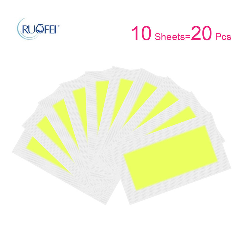 10pcs/lot Hair Removal Wax Strips Roll Underarm Wax Strip Paper Beauty Tool Leg Body Facial Hair Women Men