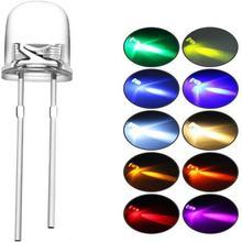 1000 шт/лот прозрачные круглые светодиодные лампы 5 мм 3 супер