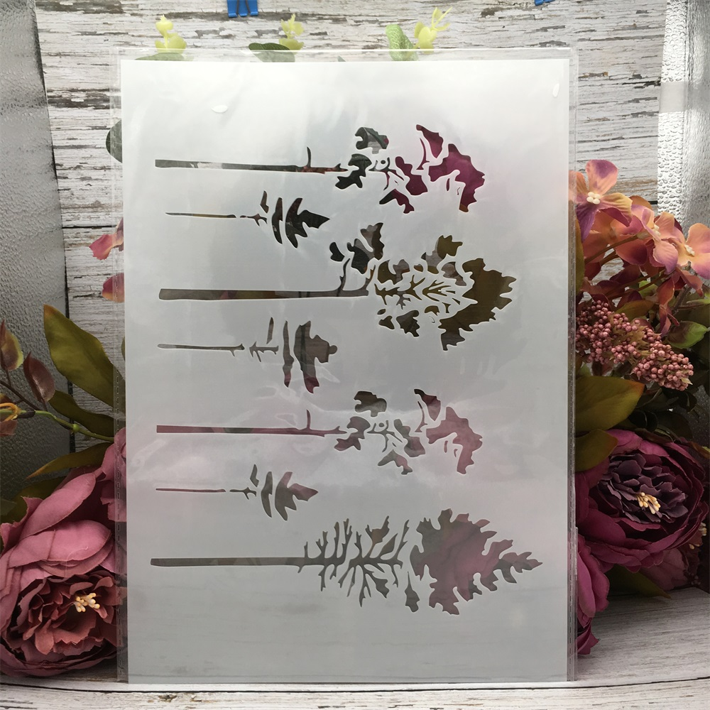 29*21cm A4 Small Trees DIY Layering Stencils Wall Painting Scrapbook Coloring Embossing Album Decorative Template