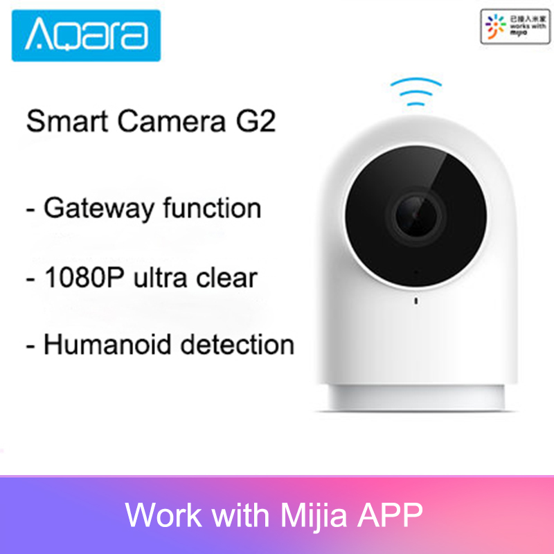 Mais novo Aqara Câmera Inteligente G2 1080P Edição Gateway Zigbee Ligação Nuvem de Dispositivos IP Wi-fi Sem Fio Inteligente de Segurança Em Casa