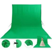 Toile de fond en Fiber de Polyester pour Studio de photographie, écran vert 1.8x2.8cm, couleur blanche, noire, tissu Chromakey
