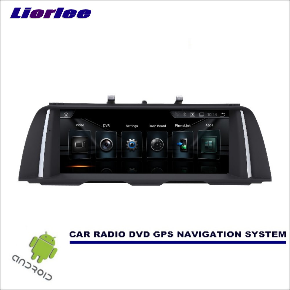 Liorlee Car Radio Video Audio HD Screen For <font><b>BMW</b></font> 5 <font><b>F10</b></font> F11 2013-2016 Car Stereo GPS Navigation <font><b>Android</b></font> Multimedia Player image
