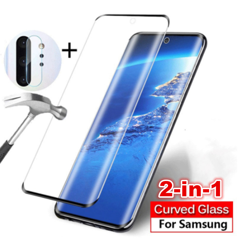 2-in-1 Camera Glass Note 10 Plus Samsung Note 10 9 Galaxy S10e S10Plus Tempered Glass on Samsung A50 M30 Screen Protector Film