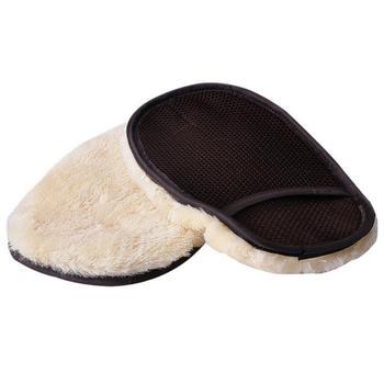 25 × 17cm rękawice do mycia samochodów samochód woskowanie intymne opieki do polerowania rękawice do mycia samochodów przyrządy do czyszczenia samochodu do pielęgnacji lakieru narzędzie do czyszczenia szkła tanie i dobre opinie JOSHNESE CN (pochodzenie) 25cm imitation wool Cleaning Gloves