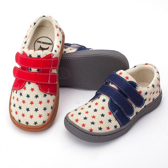 Pekny bosa marca meninos sapatos de lona descalço crianças sapatos meninas suficiente toe superior da criança sapatos para crianças menina tamanho grande 25 35