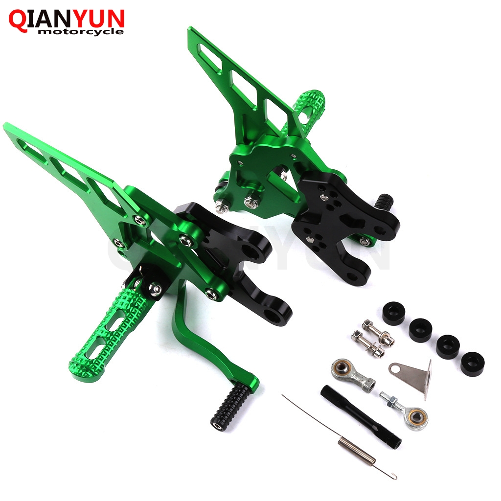 Motorcycle For Kawasaki Z900 2017 2018 CNC Aluminum Accessories Footrest Rear Sets Adjustable Rearset Foot Pegs Z 900 2017 2018
