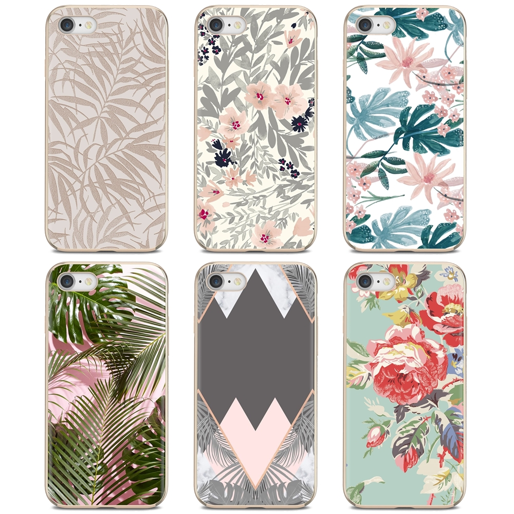 Tropic Beige And Rose Gold Wallpaper Silicone Cover Bag For LG G2 G3 G4 Mini G5 G6 G7 Q6 Q7 Q8 Q9 V10 V20 V30 X Power 2 3 Spirit