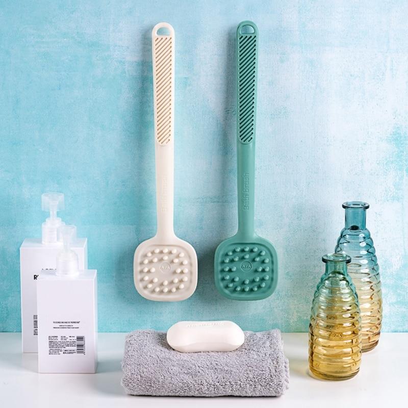Щетки для тела ванной комнаты щетки ванны с длинной ручкой отшелушивающий