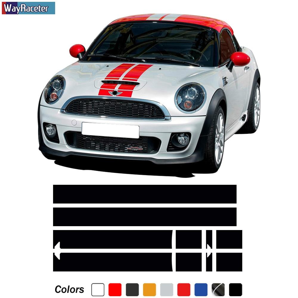Автомобильный капот, полосатая наклейка, крыша двигателя, фотоэлемент для мини медного купе R58 Cabrio R57 Roadster R59 JCW, аксессуары