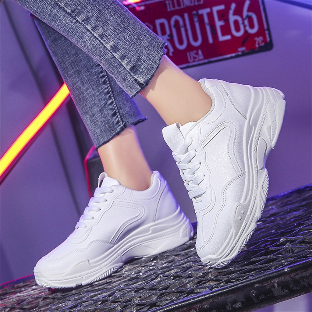 Women Shoes 2019 New Chunky Sneakers For Women Vulcanize Shoes Casual Fashion Dad Shoes Platform Sport Outdoor Sneakers #813