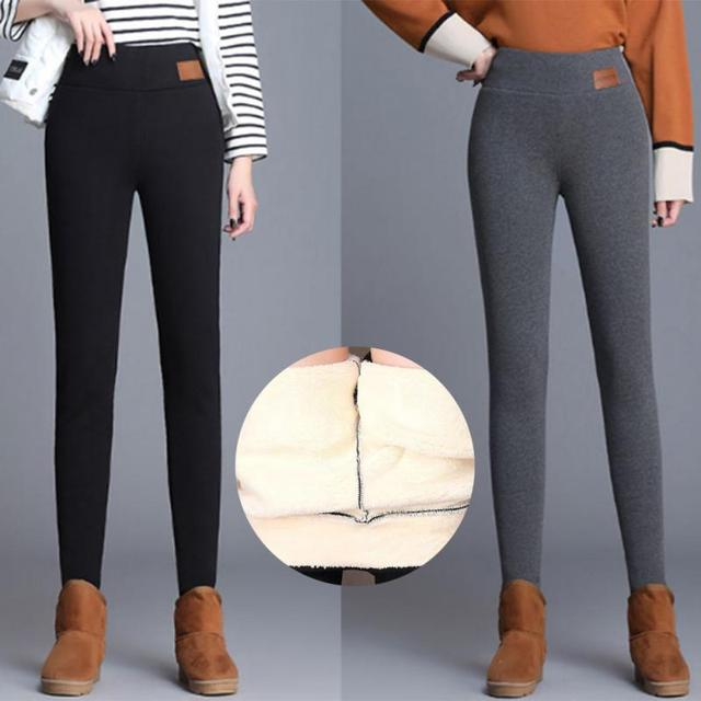 NORMOV Women's Winter Warm Leggings Super-thick High Stretch Lamb Cashmere Leggins High Waist Skinny Trousers 5