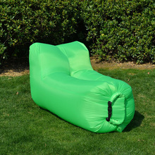 Polyester Foldable Sleeping Bag Lazy Inflatable Sofa Outdoor Beach Air Sofa Bed Furniture Fashion High Quality Garden Sofas