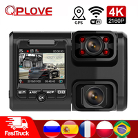 QPLOVE 4K Car dvr HD 2160P GPS dash cam dual movable camera and Sony sensor with wireless WiFi Super Night Vision Auto Recorder