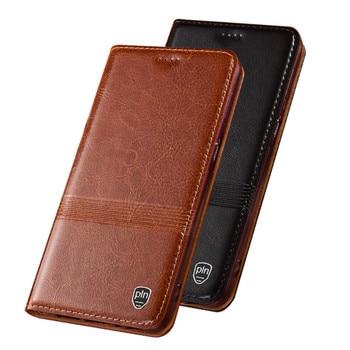 Crazy Horse Genuine Leather Phone Holster Case For Umidigi S5 Pro/Umidigi S3 Pro Cell Flip Cover Card Slot Holder Funda Coque