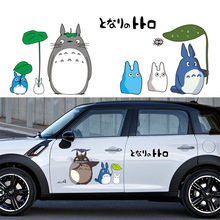 цена на Creative Car Styling Stickers Cartoon Funny My Neighbor Totoro Car Decorative Decals Car Body Windshield Stickers