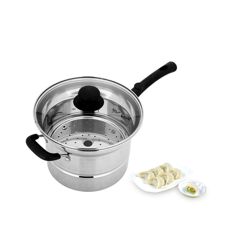 Stainless Steel Multi-function Fryer Thickening Noodle Pot Soup Pot Household Steamer Milk Pot Boiling Pot Induction Cooker