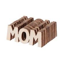 15 Uds. Tabla de madera de mamá confeti dispersión Vintage rústico fiesta de decoración artesanal álbum de recortes decoraciones del Día de la madre soporte de la nave