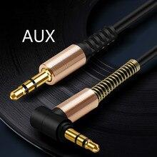 3,5 мм разъем стерео 1 м/3.28ft аудио кабель папа-папа 90 градусов правый угол Aux кабель провод шнур с пружинной защитной крышкой