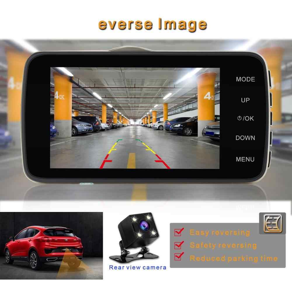 4 дюйма с разрешением Full HD 1080P вождение автомобиля Регистраторы Автомобильная камера цифровой видеорегистратор EDR Автомобильный видеорегистратор с детектором движения Ночное Видение G-Сенсор DVR Камера